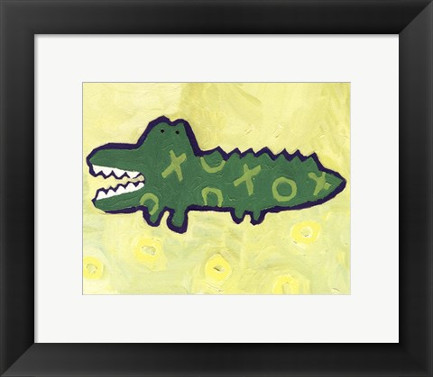 Framed Croc -mini Print