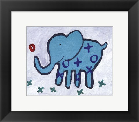 Framed Elephant - mini Print