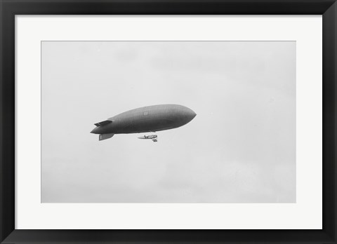 Framed Blimp Over Police Games Print