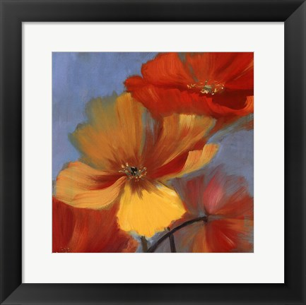 Framed Movement in Bloom I - mini Print