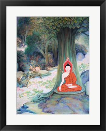 Framed Paintings of Life of Gautama Buddha Print