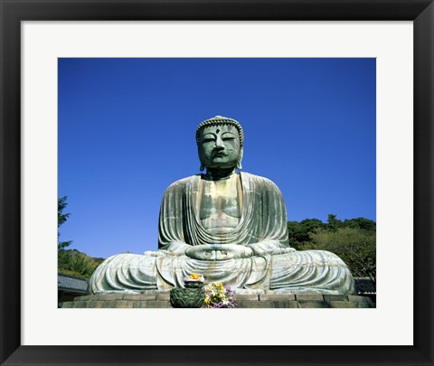 Framed Statue of the Great Buddha, Kamakura, Japan Print