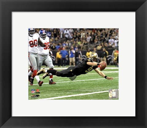 Framed Drew Brees 2011 Action Print