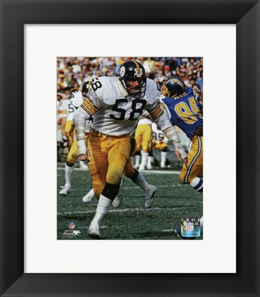 Framed Jack Lambert 1977 Action Print