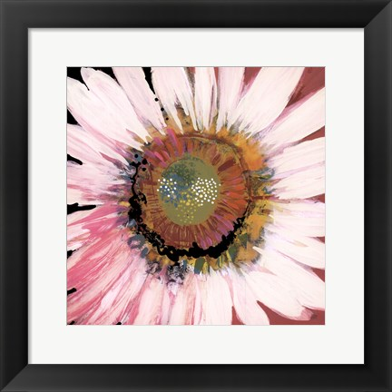 Framed Sunshine Flower I Print