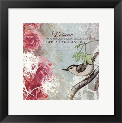 Framed Tiffany Nature I - mini Print