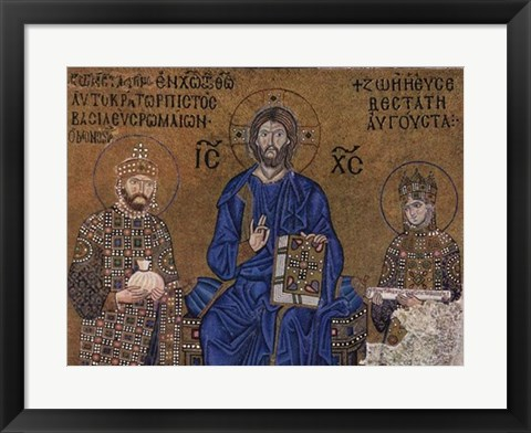Framed Christ and Rulers Print