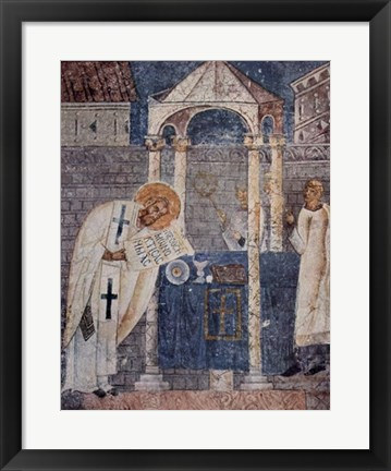 Framed Master of the Sophien Cathedral form Ohrid Print