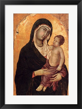 Framed Virgin and Child portrait Print
