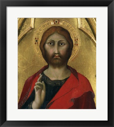 Framed Christ Blessing Print