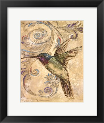 Framed Hummingbrid II Print