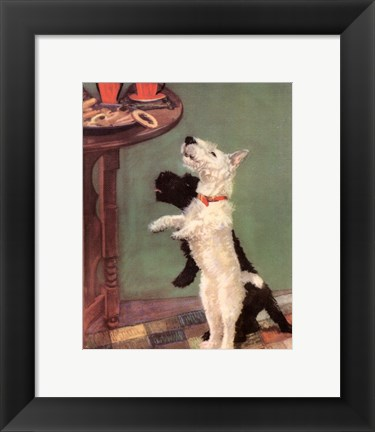 Framed Terrier Trouble V Print
