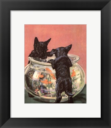 Framed Terrier Trouble VI Print