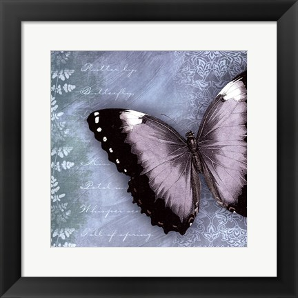 Framed Butterfly Notes X Print