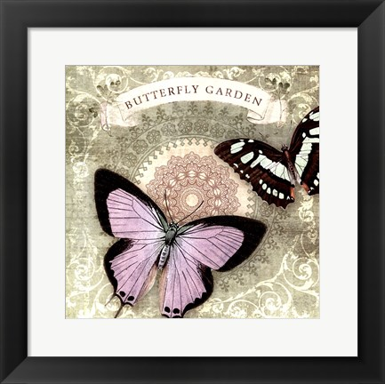 Framed Butterfly Notes XII Print