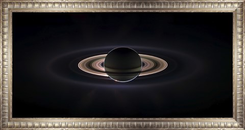 Framed Saturn Eclipse Print