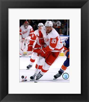 Framed Johan Franzen 2011-12 Action Print