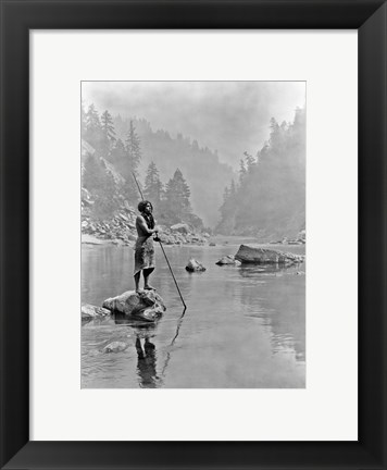 Framed Smoky Day at the Sugar Bowl, Hupa Print