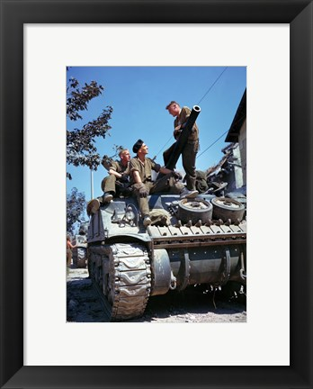 Framed Crew of a Sherman Tank Print
