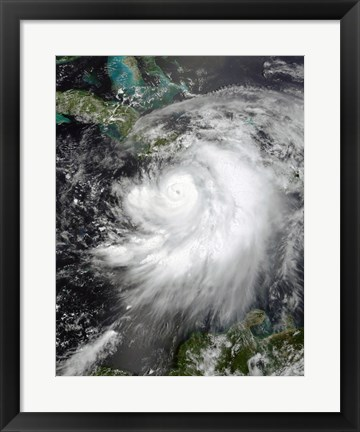Framed Hurricane Dennis July 7, 2005 Print