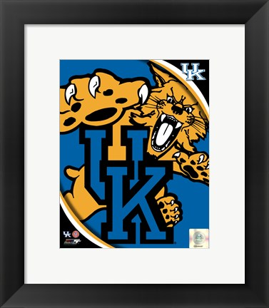 Framed University of Kentucky Wildcats Team Logo Print