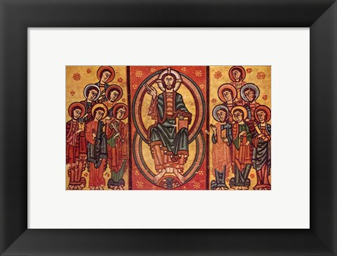 Framed Altar frontal from La Seu d'Urgell or of the Apostles Print