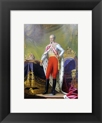 Framed Emperor Franz, a Portrait of King of Hungary Print