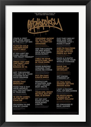 Framed Hiphopology Print