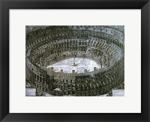 Framed Interior of the Colosseum with niches for the Via Crucis Print