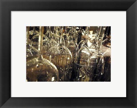 Framed Wine Glasses Print