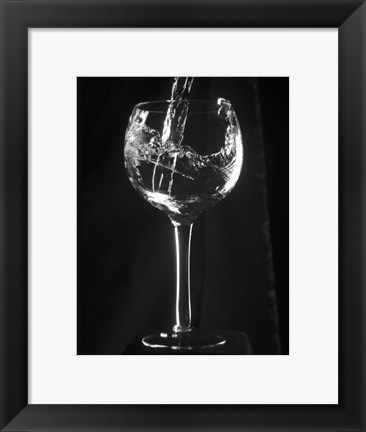 Framed Wine Glass Print