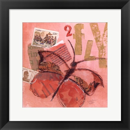 Framed Butterfly No. 2 Print