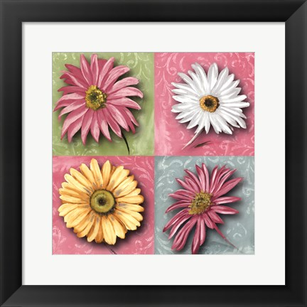 Framed Blooming Collection II Print