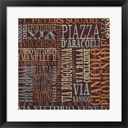 Framed Streets Of Rome Print