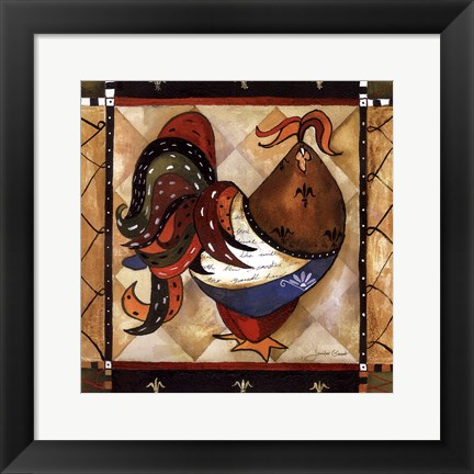 Framed Tuscan Rooster Sq I Print