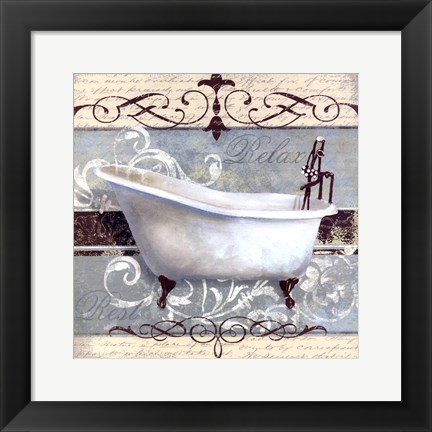 Framed Elegant Spa I Print
