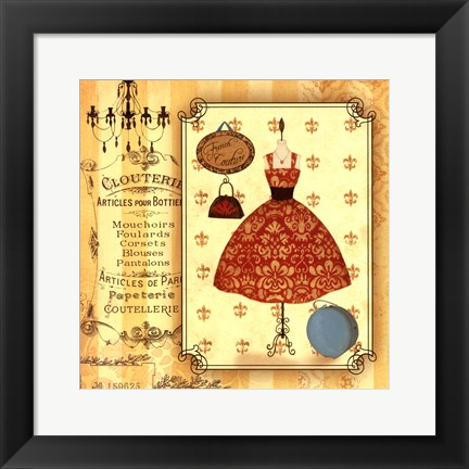 Framed French Couture Print