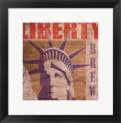 Framed Liberty Print