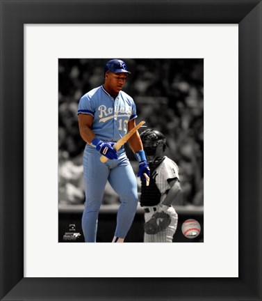 Framed Bo Jackson Spotlight Action Print