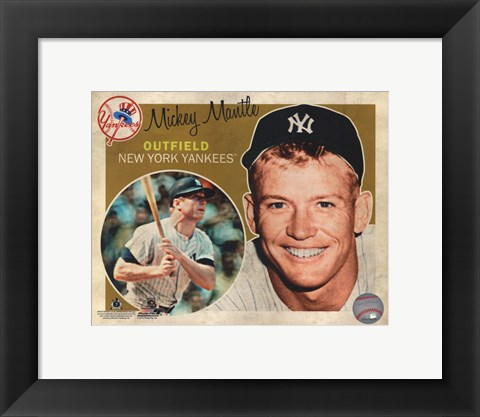 Framed Mickey Mantle 2012 Studio Plus Print