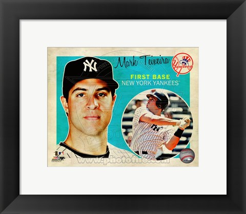 Framed Mark Teixeira 2012 Studio Plus Print