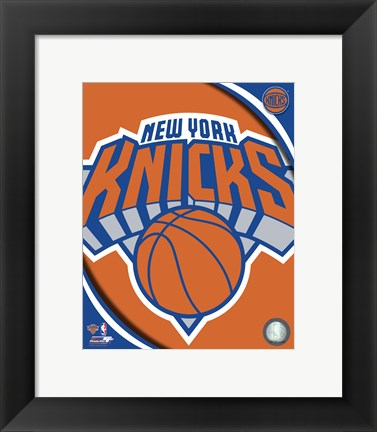 Framed New York Knicks 2012 Team Logo Print