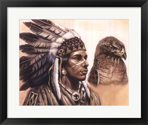 Framed Young Hawk Print