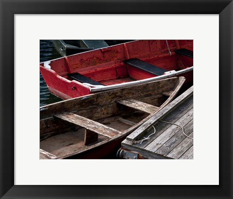 Framed Wooden Rowboats X Print