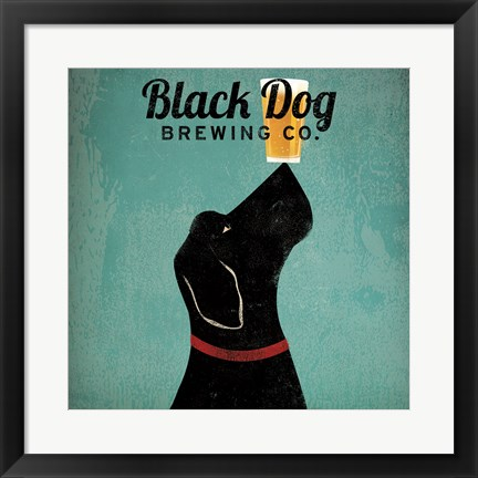Framed Black Dog Brewing Co Square Print