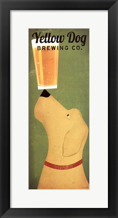 Framed Yellow Dog Brewing Co. Print