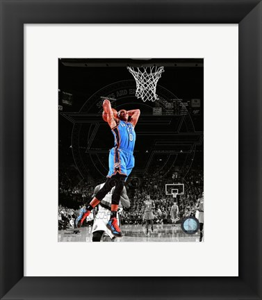 Framed Russell Westbrook 2011-12 Spotlight Action Print