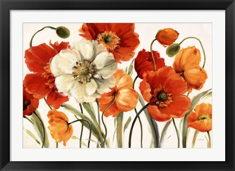 Framed Poppies Melody Print