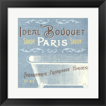 Framed Indulge Yourself Aqua I Print