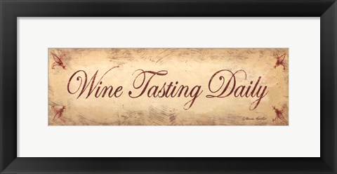 Framed Wine Tasting Daily Print